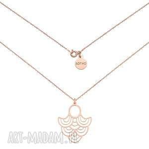 autorskie naszyjniki naszyjnik z różowego złota z rozetą