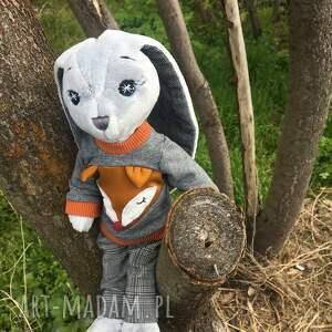 maskotki mały pan królik pluszowa maskotka, zabawka, królik, ręcznie szyta