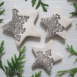 zestaw 3 gwiazdek magnesów, upominki świąteczne, ozdoby, bożonarodzeniowe