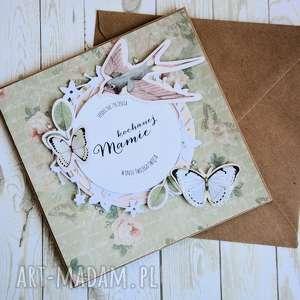 ręcznie zrobione kartki kartka - kochanej mamie (1)