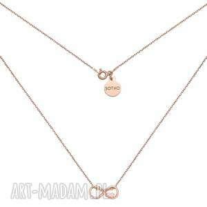 naszyjnik z nieskończonością i serduszkiem w różowym złocie