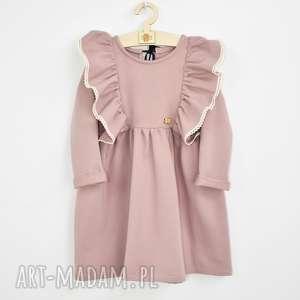 Sukienka z falbankami i koronka noeli dla dziewczynki, koronka