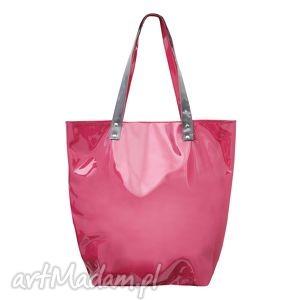 Mana Rabarbar, torba, pcv, pvc, foliowa, różowa