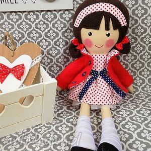 handmade lalki malowana lala martynka