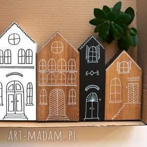 hand-made pomysł na upominki święta 4 x domki drewniane
