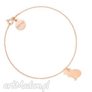 Bransoletka z kotem różowego złota, bransoletka, rożowa, złoto, kot, kotek
