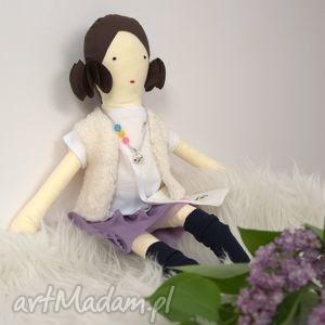 lalki dunia lalka szmaciana w liliowej tutu, lalka, szmaciana, bawełna, prezent