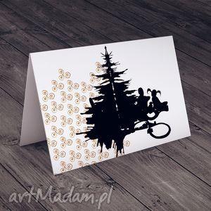 ręczne wykonanie pomysł na prezenty święta choinka... karteczka na życzenia