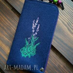 filcowe etui na telefon - lawenda, smartfon, pokrowiec, futerał, kwiatowy motyw