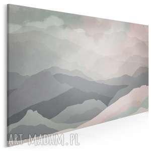 obraz na płótnie - wzgórza abstrakcja 120x80 cm 33501, góry, wzgórza, mgła