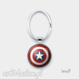 Brelok do kluczy TARCZA, ameryka, komiks, film, super, bohater, flaga