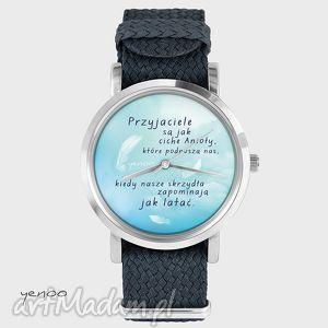 zegarki zegarek, bransoletka - przyjaciele są jak anioły grafitowy, nato