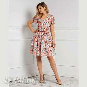 sukienka polina mini cecilia, mini, kwiaty, wiosna lato, falbany