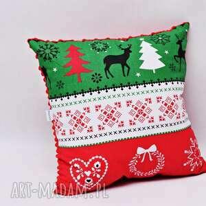 Pomysł na upominek! Poduszka świąteczna, na święta, ozdobna