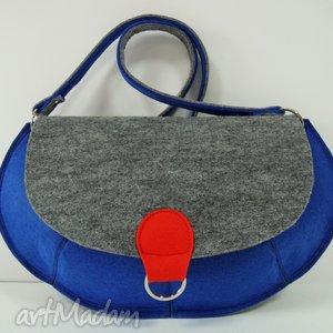 torebka - niebieskie ufo, torebka, marynarski, filc