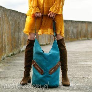 incat kofi - duża torba worek turkusowa, worek, pojemna, duża, swobodna, wygodna