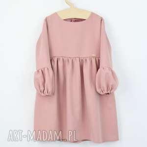 hand-made sukienka z bufkami