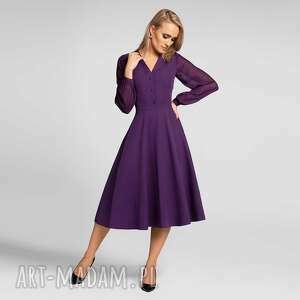 Sukienka ivana total midi fiolet sukienki livia clue midi,