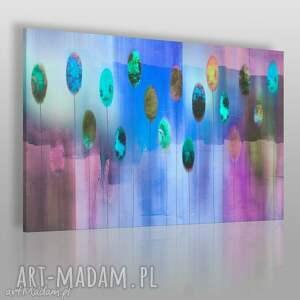 obraz na płótnie - abstrakcja błękity fiolety 120x80 cm 41902, kolory, dekoracja