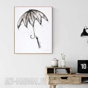 grafika 40 x 50 cm wykonana ręcznie, abstrakcja, elegancki minimalizm, obraz
