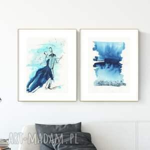 zestaw 2 obrazów 30x40 cm wykonanych ręcznie, abstrakcja, 2922147, obraz ręcznie