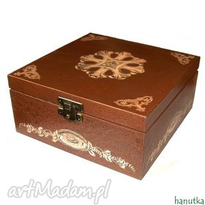 pudełka stylowa - herbaciarka, pudełko, prezent, szkatułka