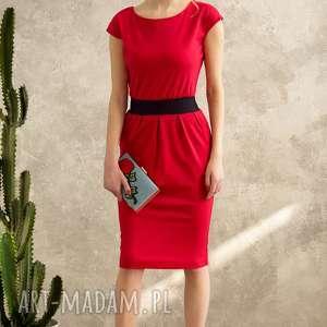 7cf35b9756 handmade sukienki czerwona sukienka mono voyage. trendy sukienki sukienka  czerwona mono voyage. sukienki mono ponadczasowa sukienka uszyta z grubszej