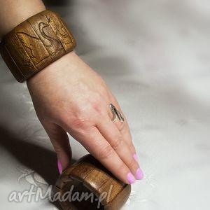 bransoletki bransoleta łabędzie z sapelli, drewniana, bransoleta, łabędź