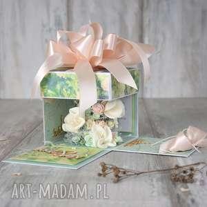 exploding box na ślub - pudełko pieniądze, pudełko, box, exploding, ślub, kartka