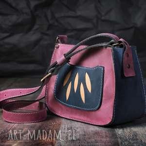 hand-made na ramię torba skórzana, torebka ramię, damska torba