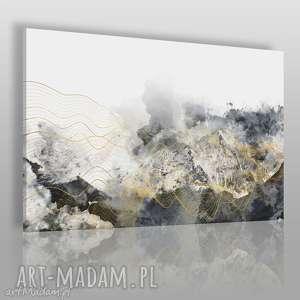 handmade obrazy obraz na płótnie - abstrakcja fale - 120x80 cm (60701)