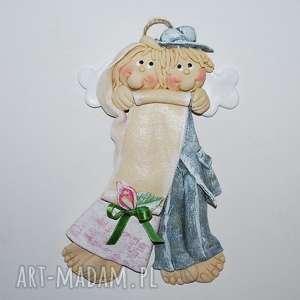 dziękujemy za życzenia anioły ślubne, anioły, dekoracja, prezent, ślub, jubileusz