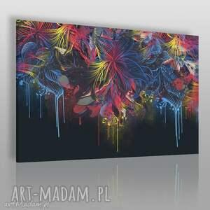 obraz na płótnie - kwiaty kolory barwy 120x80 cm 59401, kwiaty, kolory