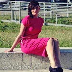 ołówkowa dresowa sukienka z kieszeniami midi, dresowa, sukienka, sportowa, kieszenie