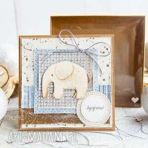 Kartka ze słoniem dla dziecka, choć nie tylko urodziny roczek