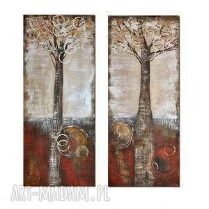 fairy trees, abstrakcja, drzewa, obraz ręcznie malowany, obraz