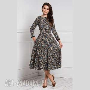 sukienki sukienka klara 3/4 total midi brigitte