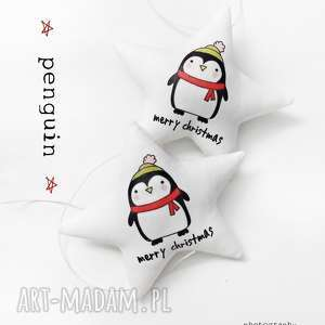 pomysły na prezenty święta PENGUIN - gwiazdeczki PINGWIN, gwiazdka, pingwinek