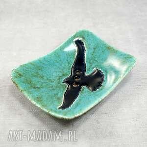 Mydelniczka z jastrzębiem ceramika pracownia ako mydelniczka