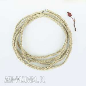 dwumetrowy naszyjnik warkocz, dłui naszyjnik, biżuteria etniczna
