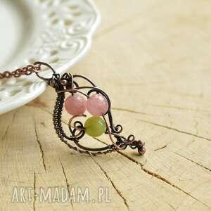 handmade naszyjniki spring - naszyjnik wire wrapping