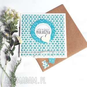 witaj na świecie maluszku :: kartka handmade, narodziny, dziecko, noworodek
