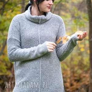 handmade swetry szary sweter