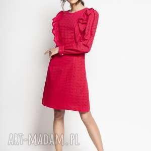 shizen - haftowana bawełniana sukienka, sukienka bawełniana, z haftem