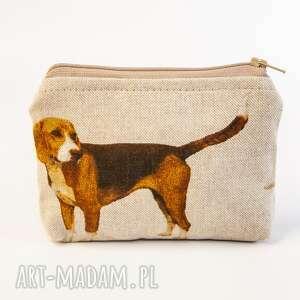 beagle, psy, saszetka, kosmetyczka, piórnik