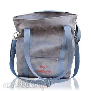 ręcznie zrobione torebki szara sportowa torba z zamszu ekologicznego w kształcie