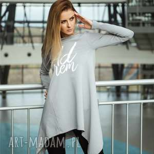 oryginalny prezent, zygzak horn bluzka dresowa, sukienka, bluza, tunika, bawełna