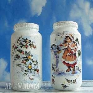magisches-atelier święta zima dekoracja komplet dwóch - świąteczna