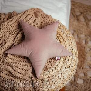 poduszka gwiazdka - różowa, pokoj dziecka, poduszka, gwiazdka, welur