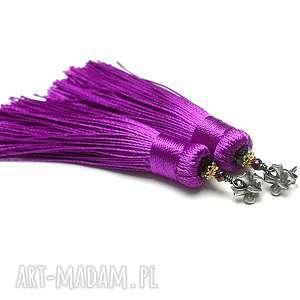 BOHO /purple/vol. 2 - kolczyki, srebro, oksydowane, chwosty, boho, hematyty